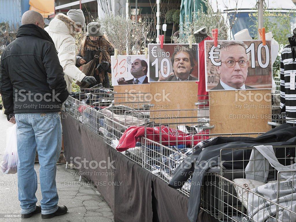 Italian politicians royalty-free stock photo