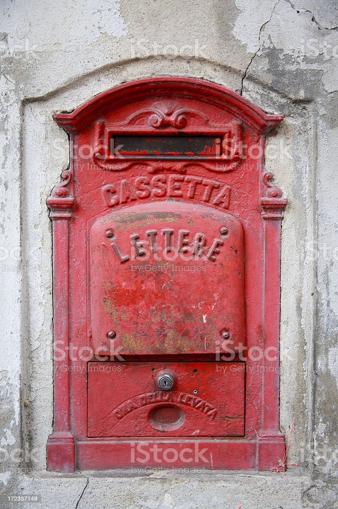 Italian post box stock photo