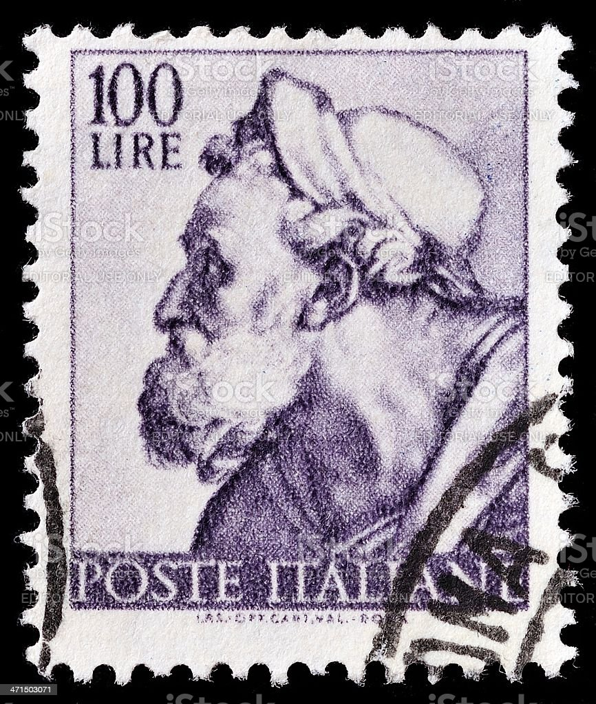 Italian Postage Stamp royalty-free stock photo