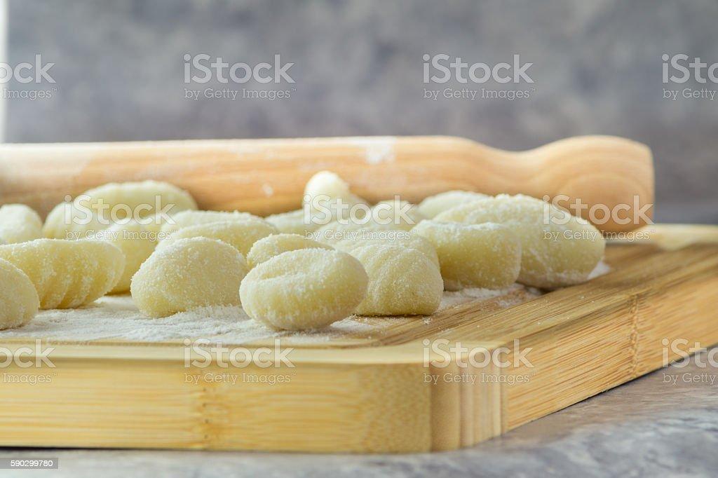 Italian Potato gnocchi royaltyfri bildbanksbilder