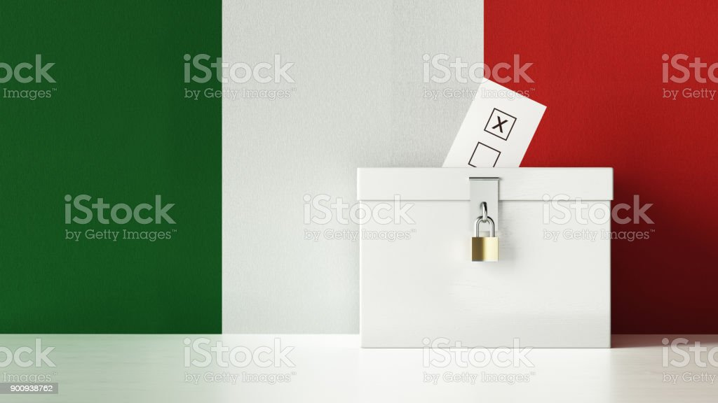 Italian Presidential and Legislative Elections Concept stock photo