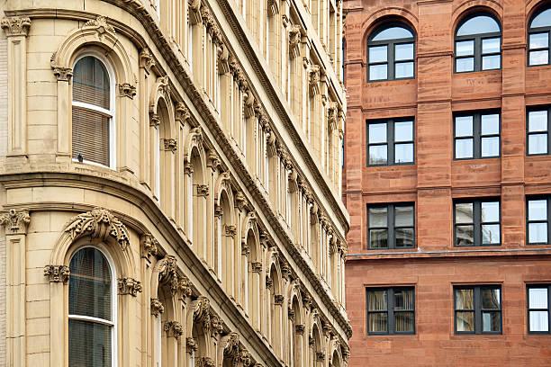 Italian Renaissance Style Office Buildings in Montreal stock photo