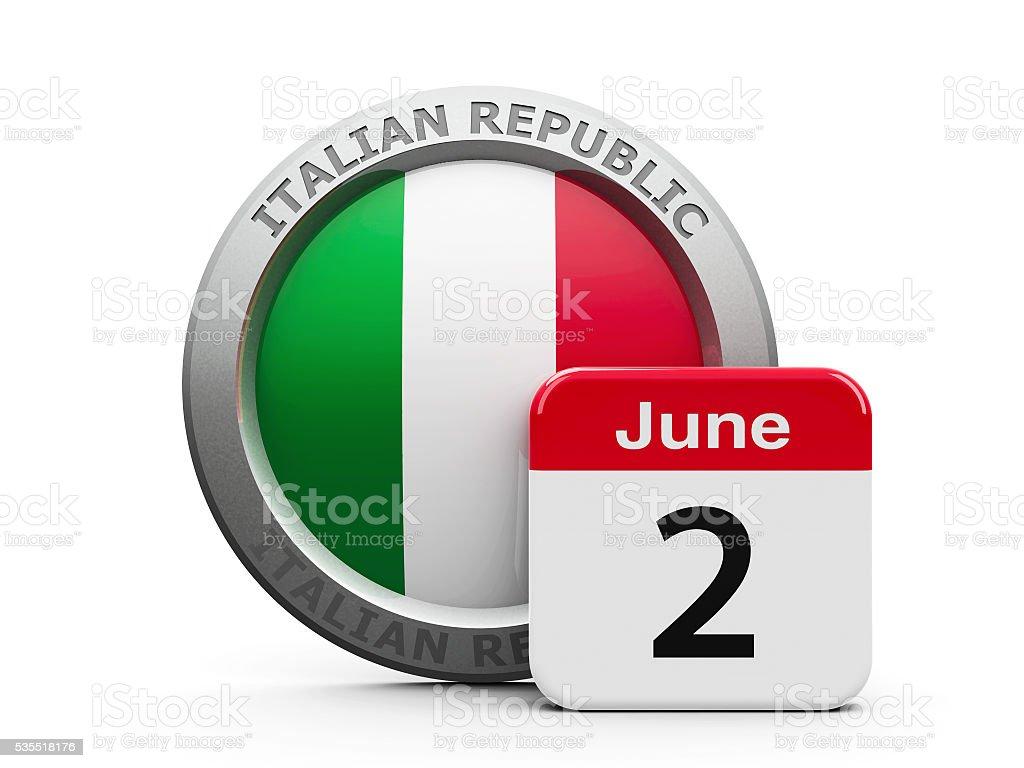 Italian Republic Day stock photo