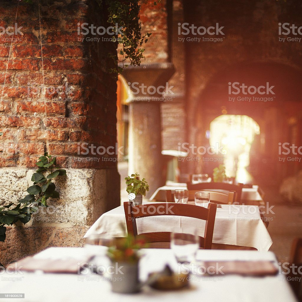 Italian Restaurant stock photo