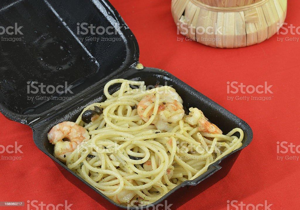 이탈리아 레스토랑 주사침의 Out Box royalty-free 스톡 사진