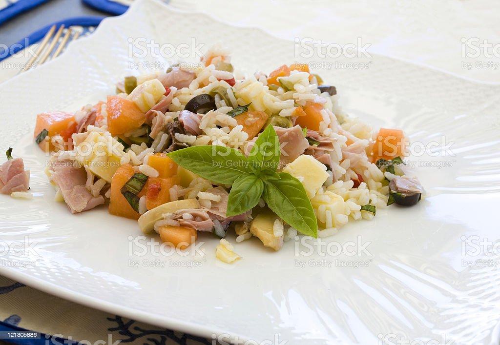 italian rice salad royalty-free stock photo