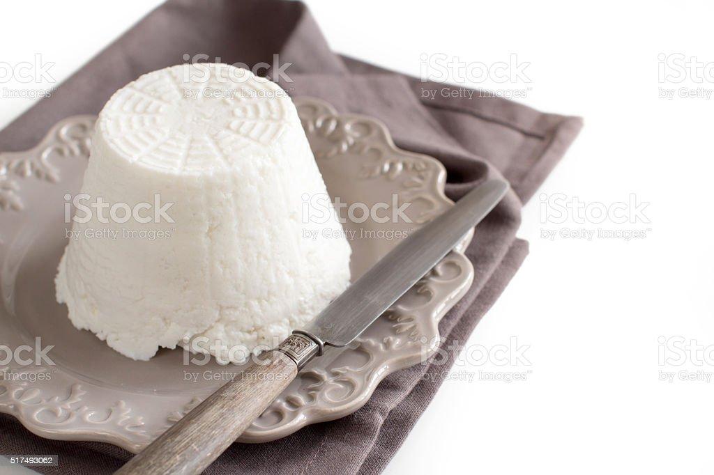 Italian ricotta cheese stock photo