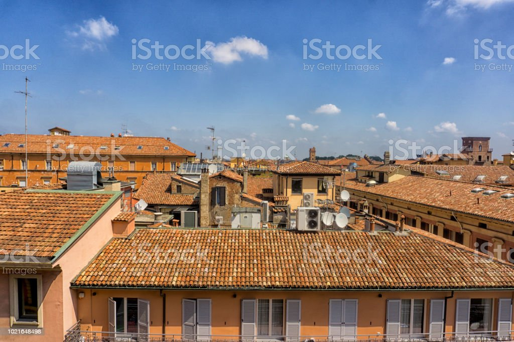 Italian roof tops stock photo