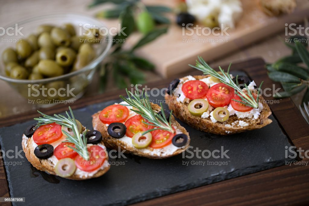 Italian sandwich- bruschetta for appetizer royalty-free stock photo