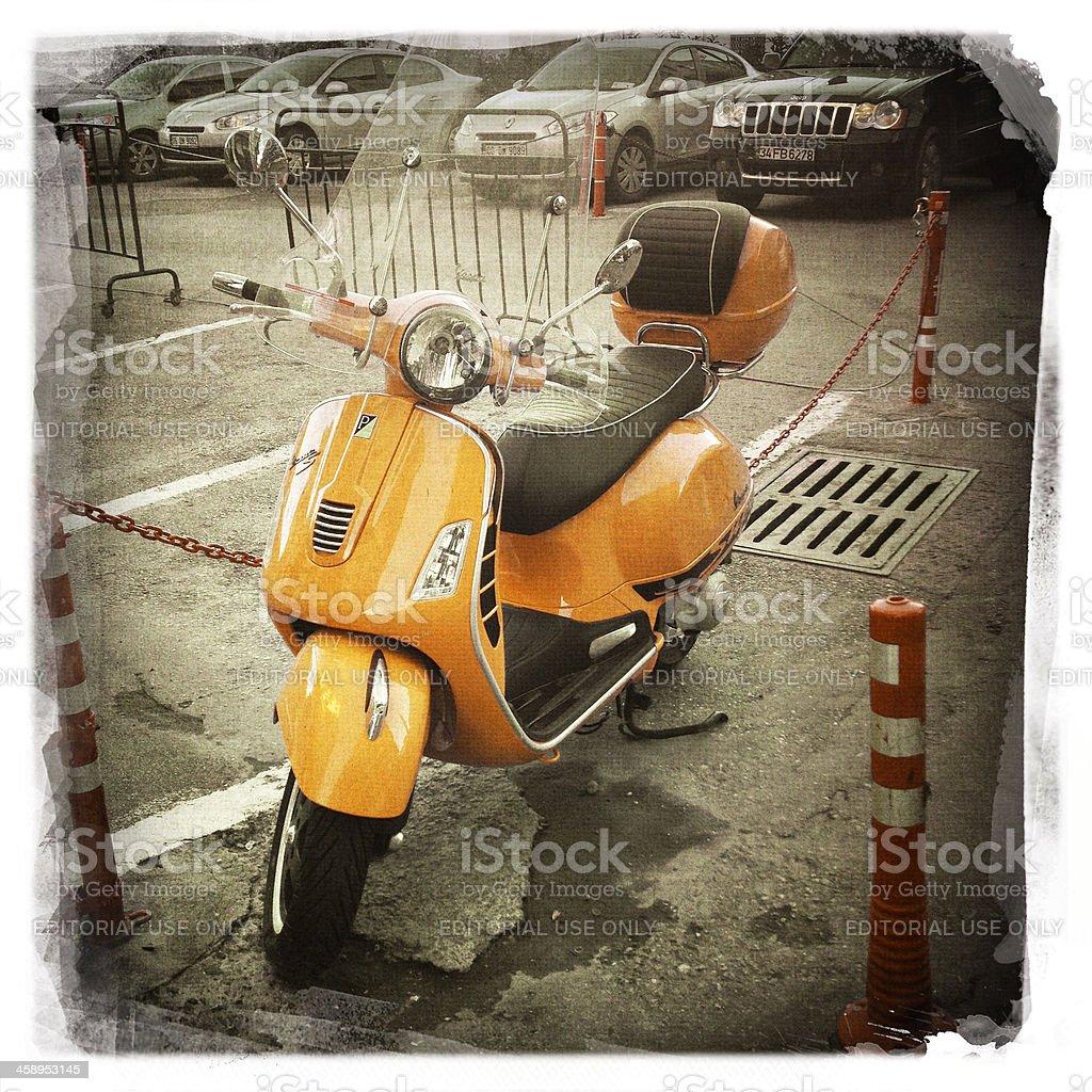 Italian Scooter:Vespa royalty-free stock photo