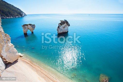 Baia delle Zagare coastline of Gargano, Italy