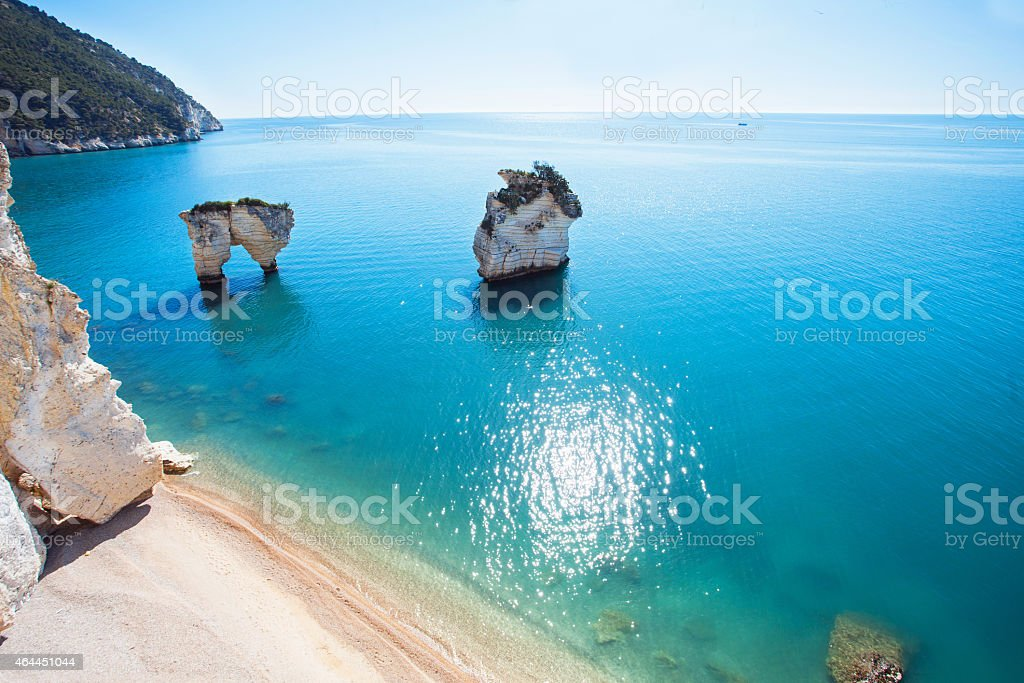 Italian seashore stock photo