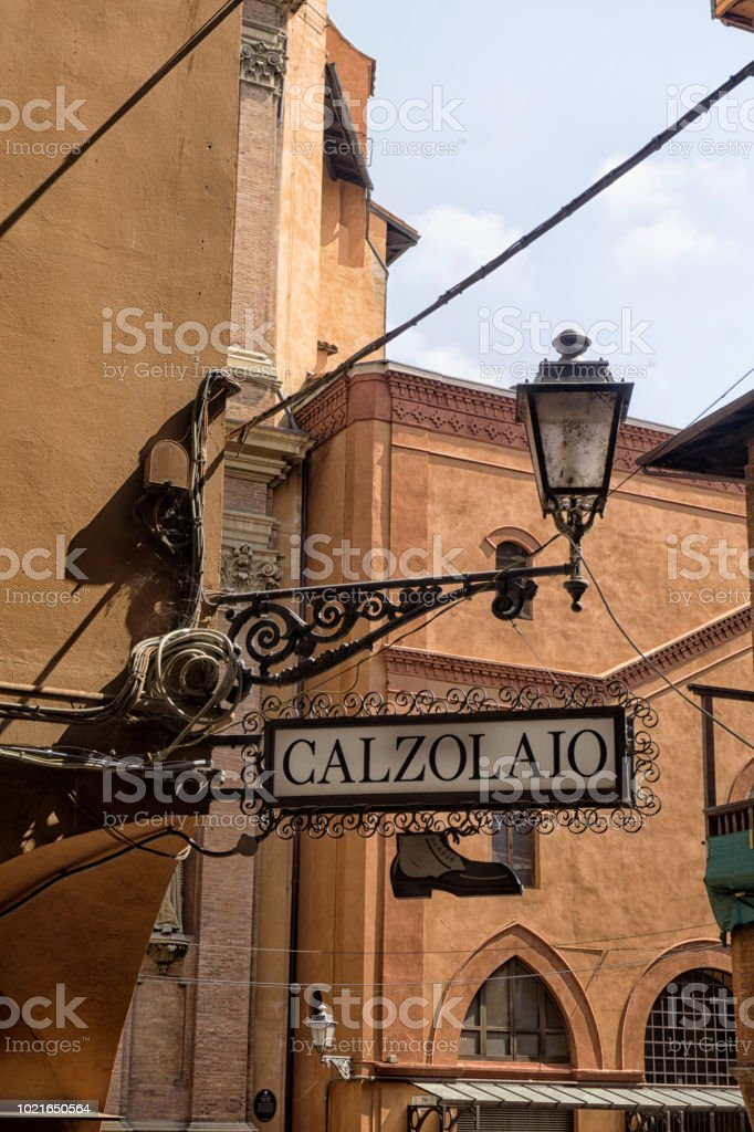 Italian shoe maker stock photo