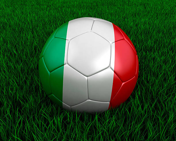 Italian soccer ball stock photo