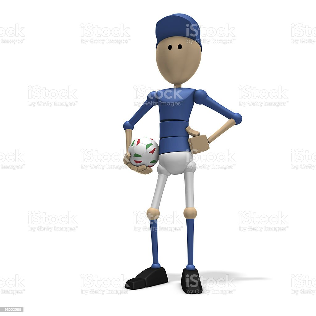 italian soccer player royalty free stockfoto