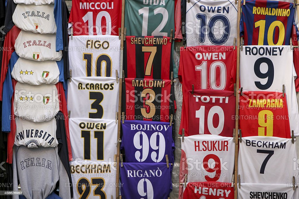 Italian Soccer shirts royalty-free stock photo