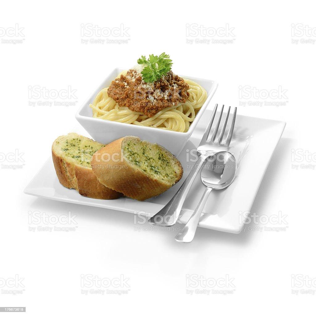 Italian Spaghetti Bolognese royalty-free stock photo
