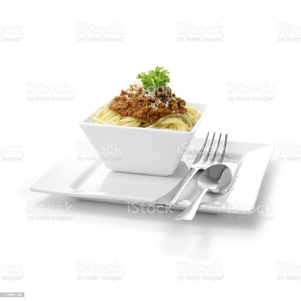 Italiana espagueti boloñesa foto de stock libre de derechos