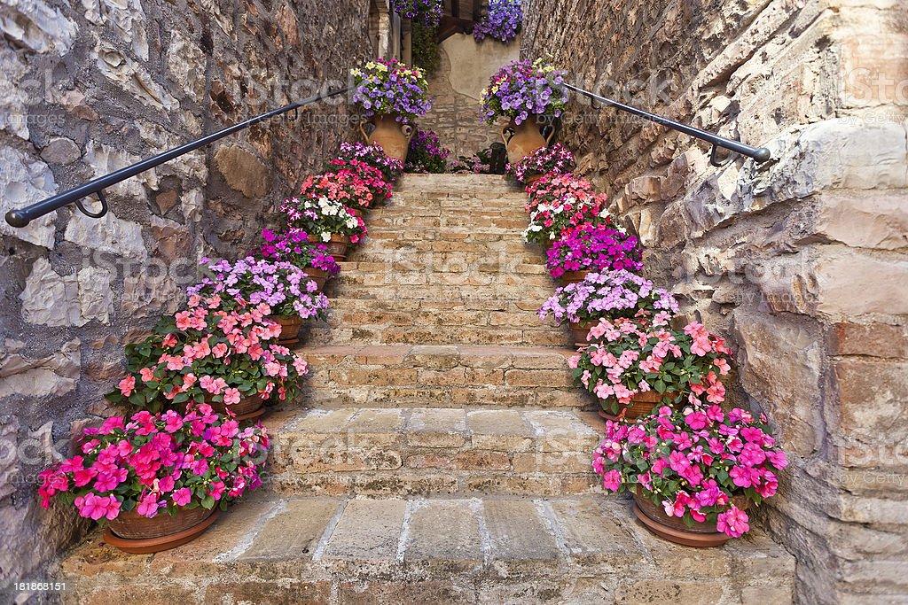 Italian Staircase stock photo