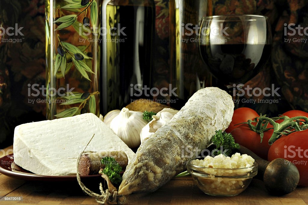 Italian Still Life royalty-free stock photo