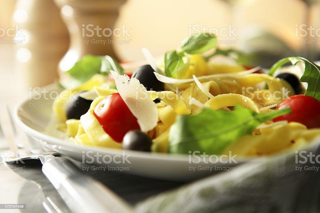 Italian Stills: Tagliatelle Vegetarian royalty-free stock photo