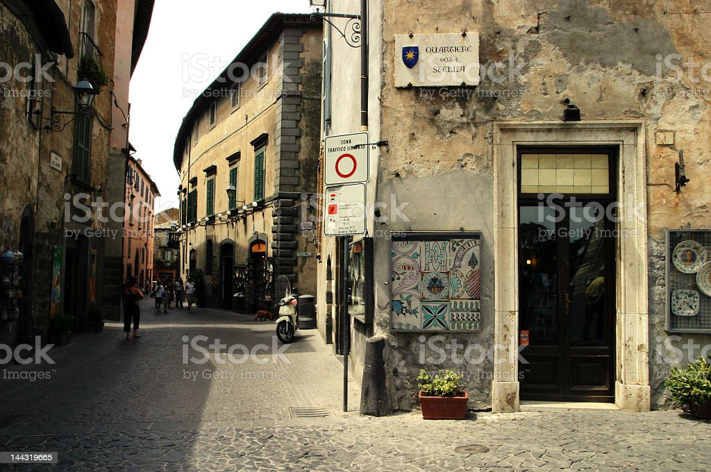 italian store & street royalty-free stock photo