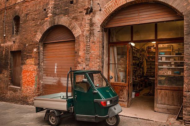 Italiano street-Retro scena urbana - foto stock