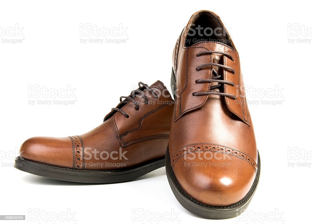 Italian Style Brown Shoes stock photo