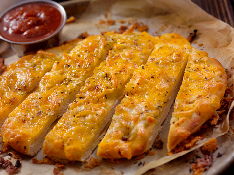Italian Style Cheese Bread sticks with Marinara Sauce