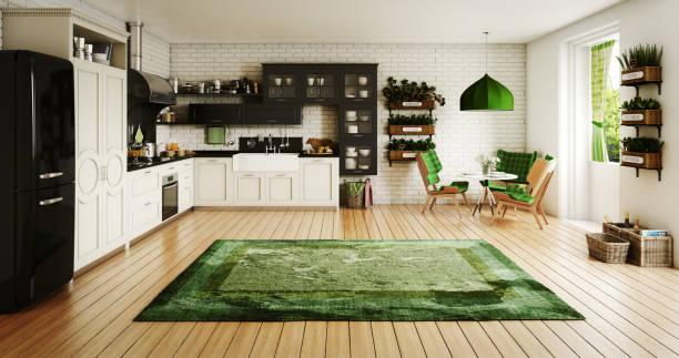 Italienischer Stil Küche Interieur – Foto