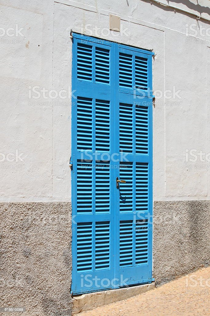 Italian style house entrance stock photo