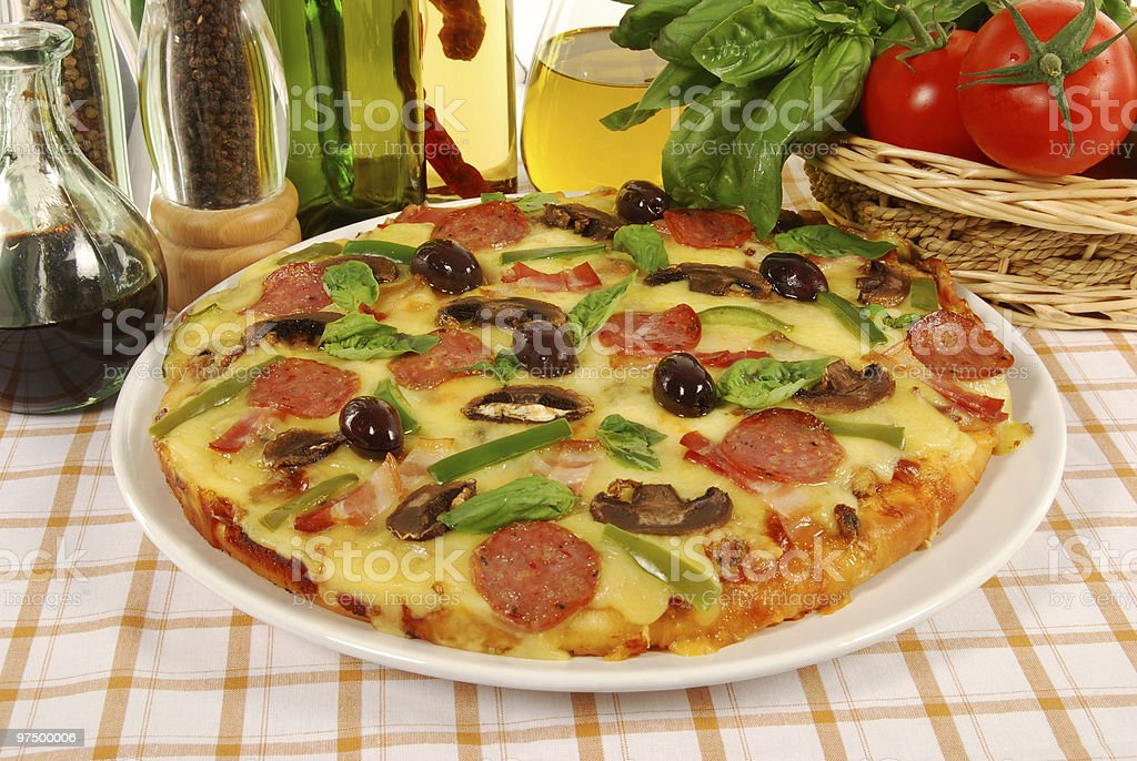 Italian style pizza royalty-free stock photo