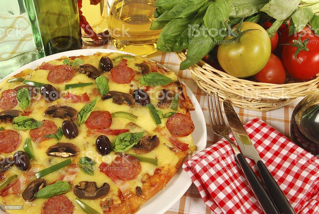 Italian style pizza royalty-free stock photo