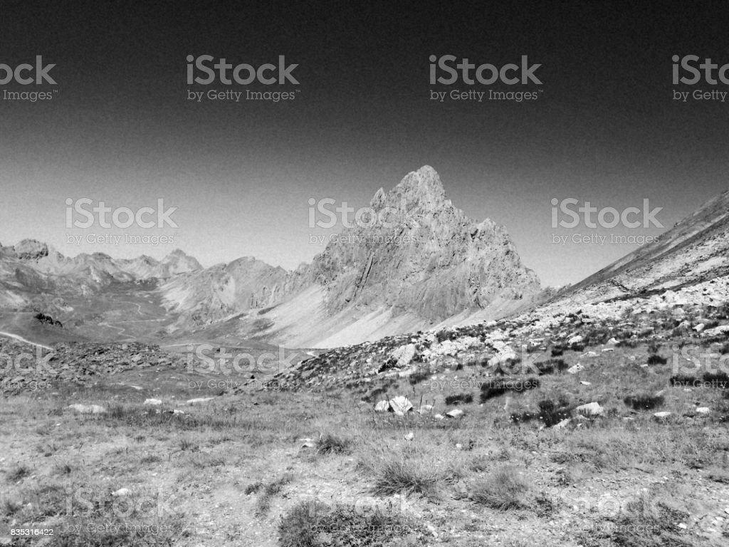 Italian summer mountains stock photo
