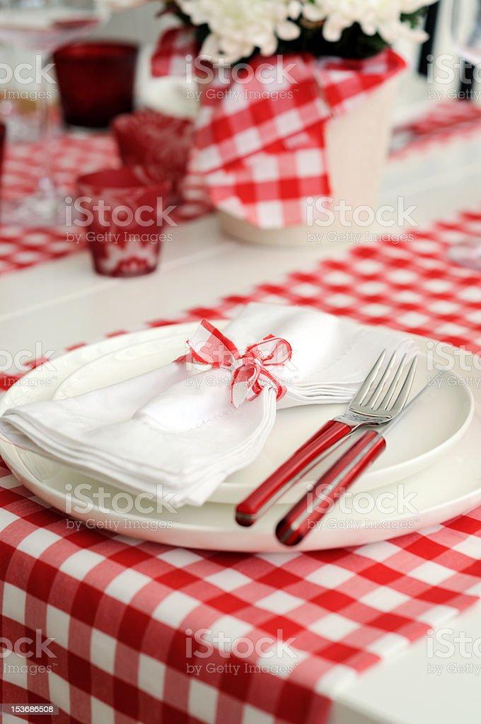 Italian Table Setting Royalty Free Stock Photo