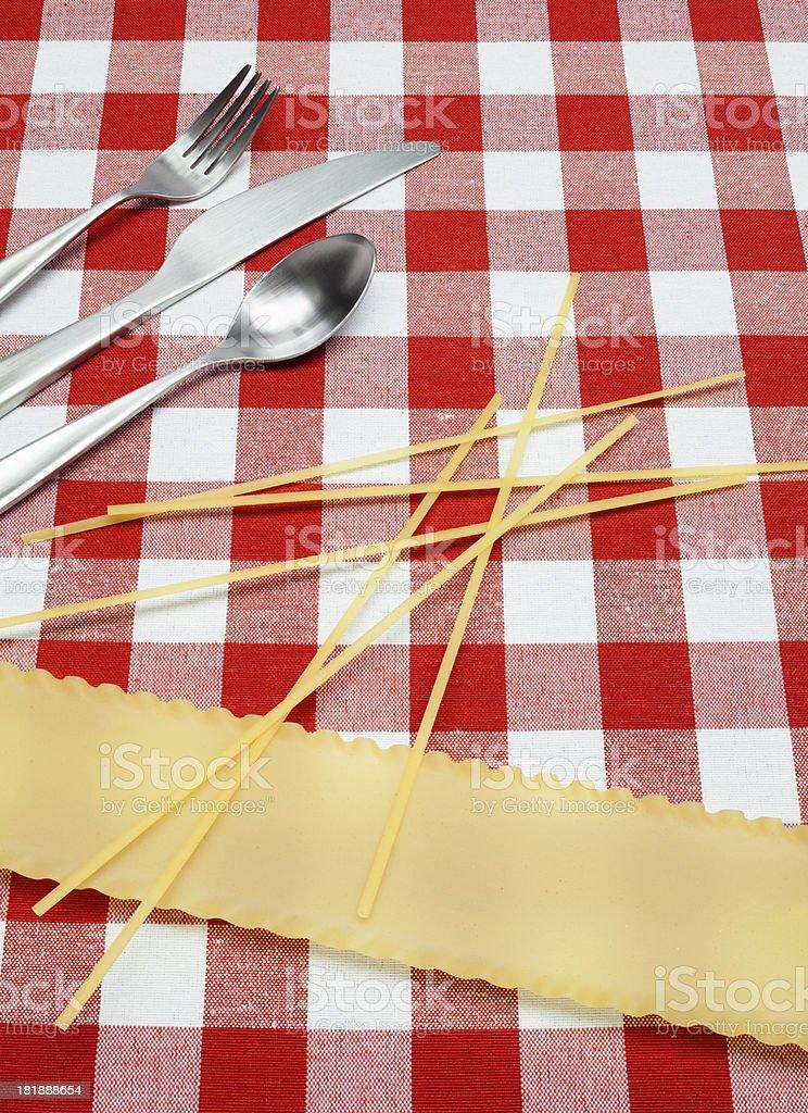 Italian Table Setting royalty-free stock photo