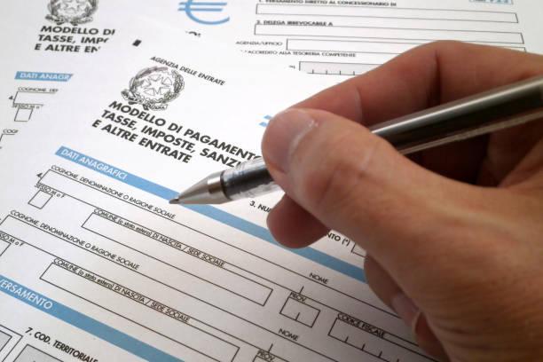 Italian tax form stock photo