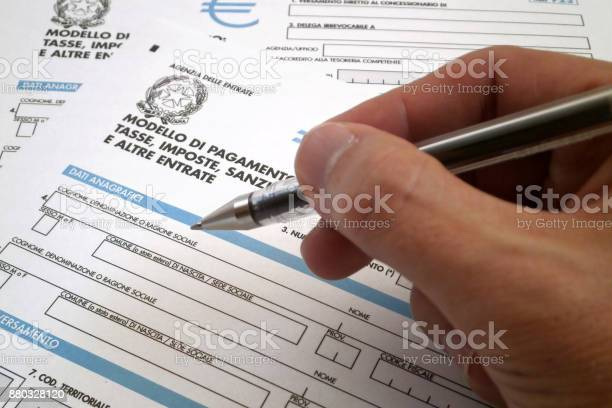 Italian Tax Form Stock Photo - Download Image Now