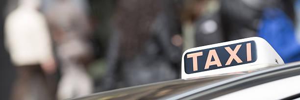 Italian taxi car outdoor stock photo