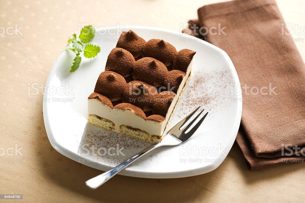 italian tiramisu dessert royalty-free stock photo