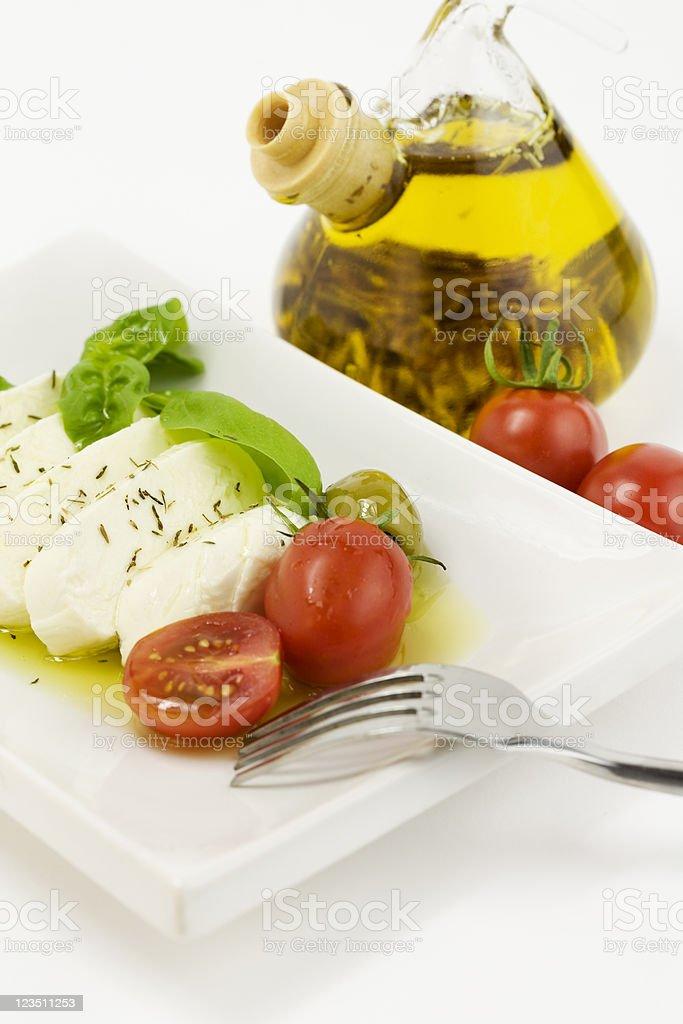 italian tomato mozarella close up royalty-free stock photo