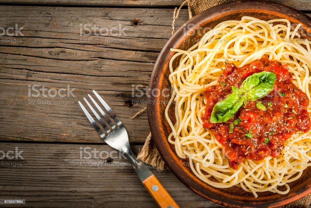 Italian tomato sauce marinara stock photo
