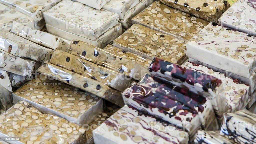 Italian Torrone Sweet royalty-free stock photo