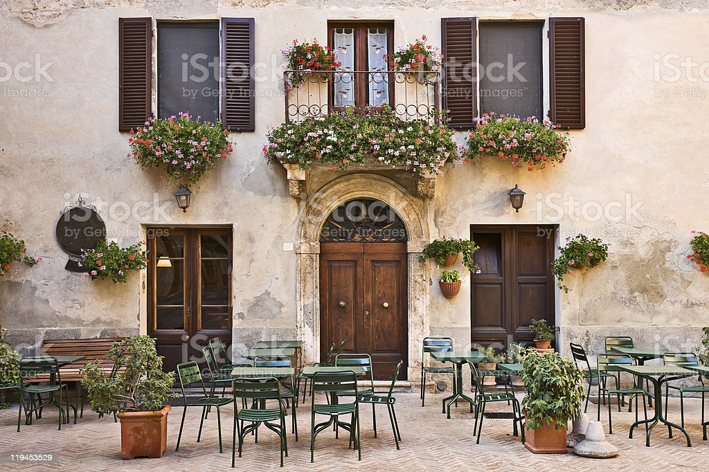 Italian trattoria royalty-free stock photo