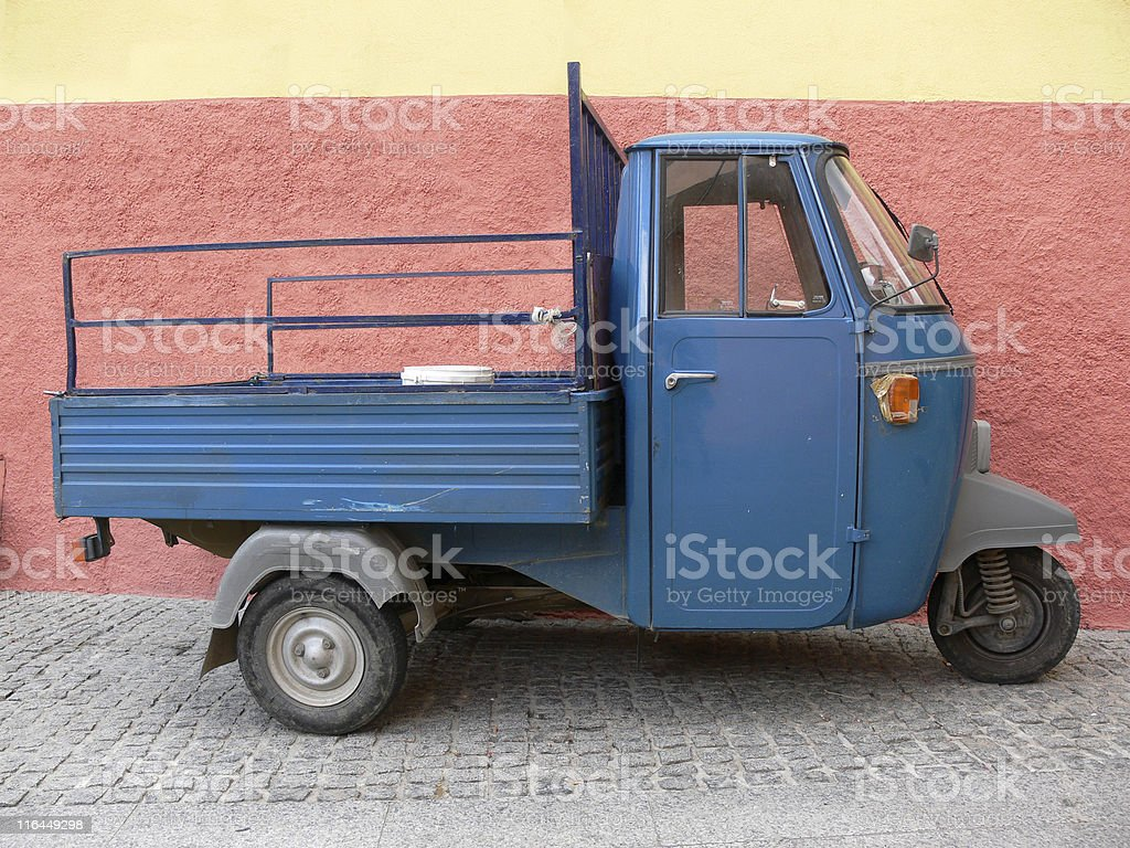 Italian tricycle Apecar royalty-free stock photo