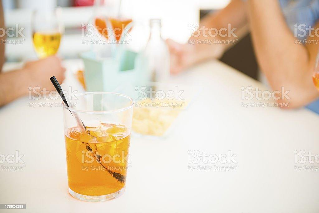Italian typical aperitif royalty-free stock photo