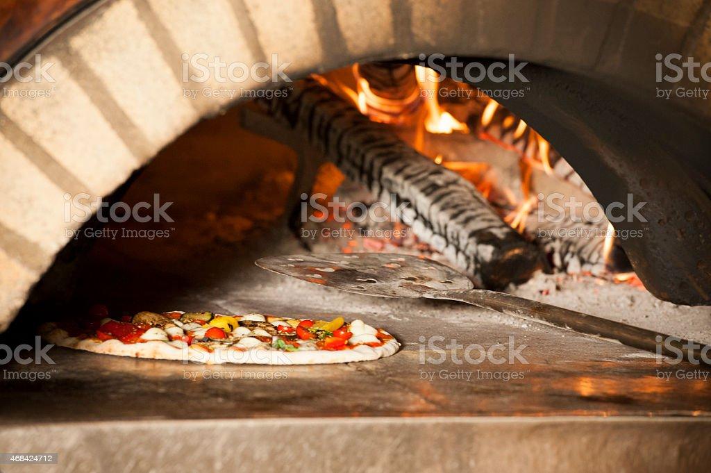 Italian typical vegetarian pizza stock photo