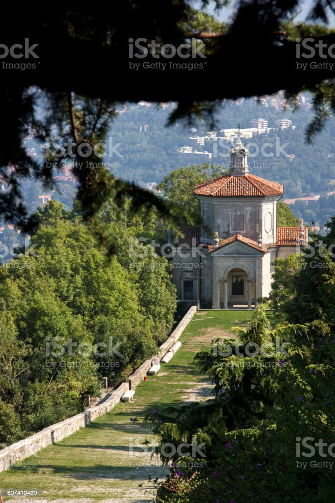 Italian Unesco Heritage Sacro Monte stock photo