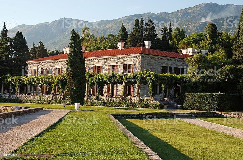 Italian villa royalty-free stock photo