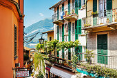 Typical italian village Bellagio at Lake Como